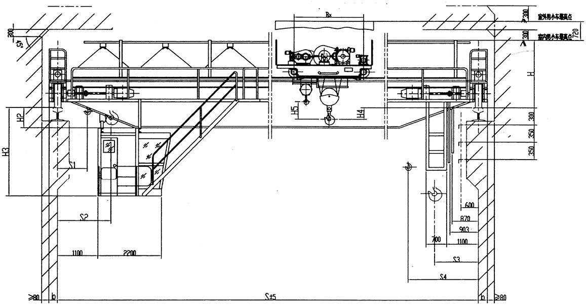 QD型5吨吊钩桥式双梁起重机QD5T-26.5/27.5/28.5/29.5M 6