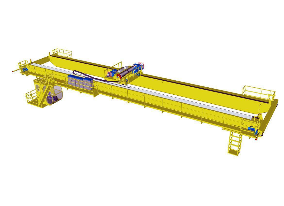 200/50 ton QD overhead crane with hook 1