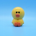Factory direct PVC cute small yellow duck cartoon action figure toy