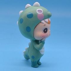 Factory direct lovely wear dinosaur costume boy's cartoon figure toy
