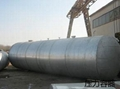 Pressure vessel made by clad metal material
