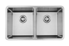 Micro Corner Double Bowl Stainless Steel Drawn Sink