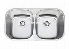 cUPC 50/50 Double Bowl Undermount Stailess Steel Sink