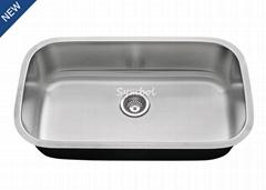 Large cUPC Single Bowl Stainless Steel Drawn Sink