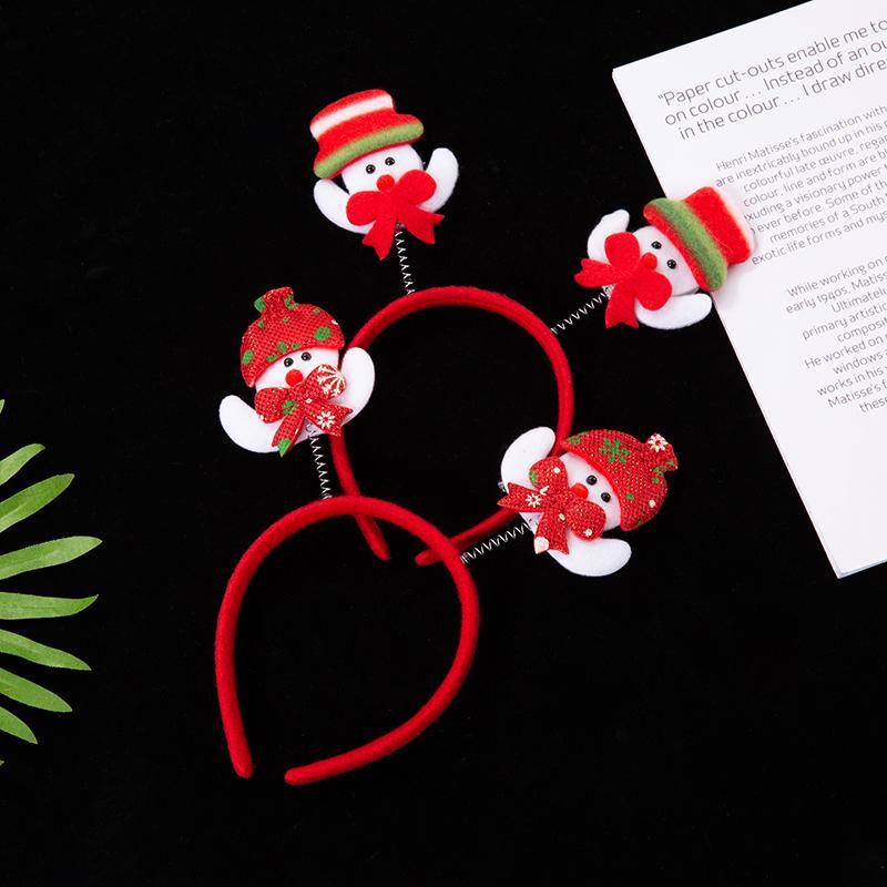 圣诞卡通头头箍发光熊头毛绒节日环保头扣定制成人儿童头箍 3