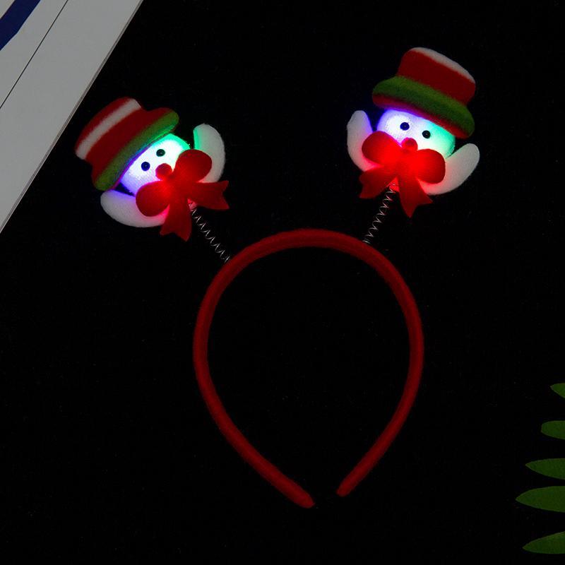 圣诞卡通头头箍发光熊头毛绒节日环保头扣定制成人儿童头箍 5