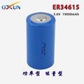 厂家直销 ER34615锂亚电池 传感器 报警器专用电池 3