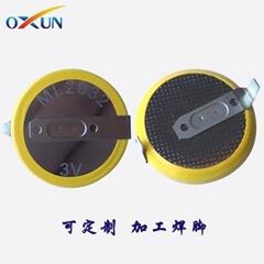 现货供应ML2032可充电纽扣电池 焊脚电池ML2032