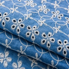 indonesian fabrics embroidery 100  cotton nylon lace white embroidered cotton fa