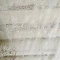 on cotton lace chiffon fabric embroidery
