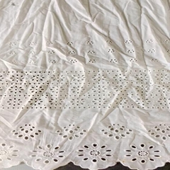 voile white cotton crochet lace embroidered fabric