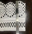 venice white cotton tulle water soluble lace trim embroidered