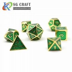 custom metal dice metal dice set