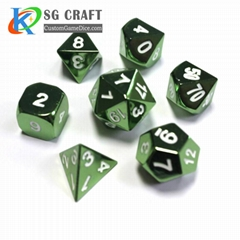 Custom Wholesale Bulk Aluminum 8 Sided 12 Sided Sets Casino Carved Polyhedral Me