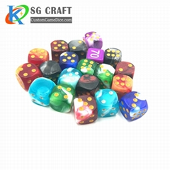 Custom colorful decorate polyhedral wooden dice