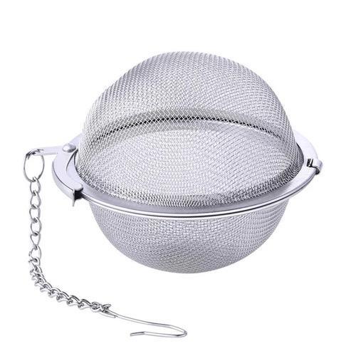 Stainless steel mesh ball shape tea filter infuser  1