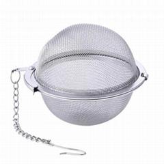 Stainless steel mesh ball shape tea filter infuser