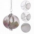 Stainless steel mesh ball shape tea filter infuser  2