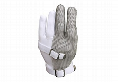 Stainless Steel Mesh Three Finger Safety Work Gloves