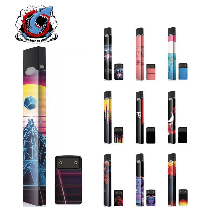 MAGCISHARK Adhesive Sticker skin custom design for Juul ecigs 3