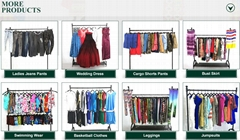 Hot selling used clothes long ladies dress
