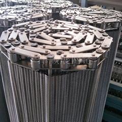 生產廠家供應油炸食品用耐高溫304不鏽鋼網帶輸送帶