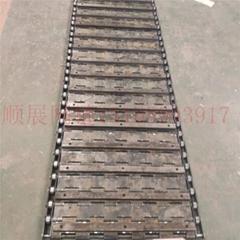 厂家定制高承重碳钢加厚重型链板输送带