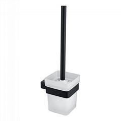 Hot Sale Home Wall Black Toilet Brush Holder