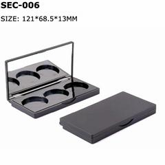 black eyeshadow palette case empty eyeshadow packaging