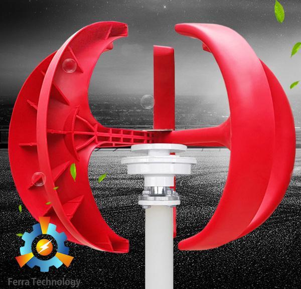 FL-200W/300W Vertical Axis Wind Turbine (Lantern Type Picture