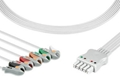 Draeger ECG cable, 5-lead, dual-pin connector,MP03414,5956458