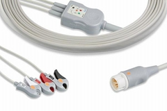 Philips one piece 3 lead ECG cable, M1970A, M1972A, M1981A