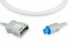 GE Datex ECG trunk cable, 5 lead, 545303-HEL, 545301, 545302, 545300