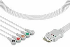 GE Datex ECG 5 lead wire set, 545328, 545318, 545316