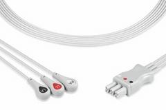 Spacelabs 3 lead ECG lead wire set, snap, 700-0007-00, 700-0007-01, 700-0007-02