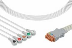 GE ECG Multi-Link Leadwire Set, snap, 5-Lead wire, 416468-001, 416467-001