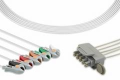 Philips M2601A telemetry ECG 5 lead wire set, grabber, M2592A, M2593A, M2596A