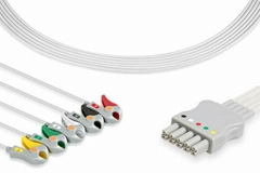 Draeger ECG cable, 5-lead, dual-pin connector,MP03413, 5956466