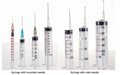 Disposable medical syringe, 3ml 5ml 10ml syringe with needle for sale