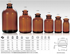 high quality amber pharmaceutical glass infusion medical vials