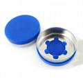 Infusion bottle aluminum plastic cap