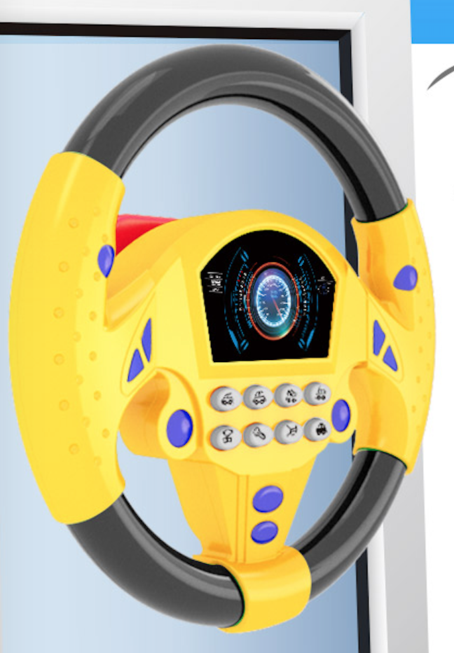 Toy Steering Wheel with 8 sounds 2