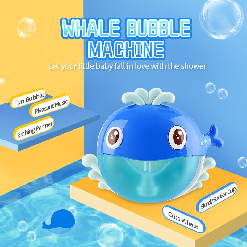 Bubble Whalle Bath Toys New Arrival Hot Selling WIth 20pcs Music 3