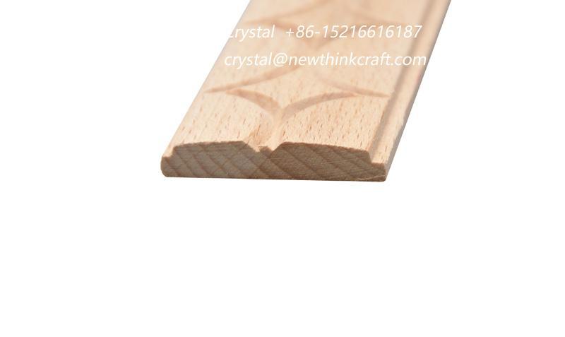 carved wood baseboard moulding for interior decoration 2