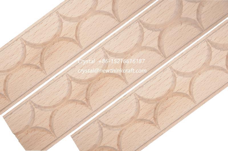 carved wood baseboard moulding for interior decoration 3