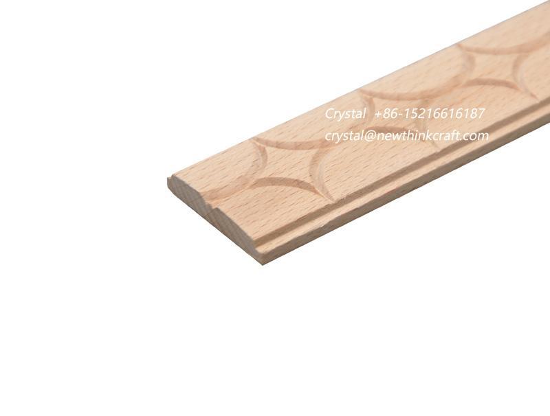 carved wood baseboard moulding for interior decoration 4