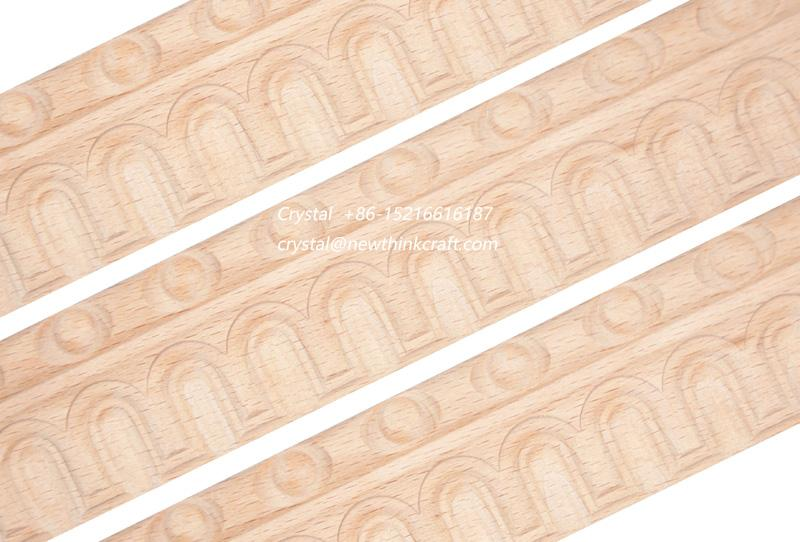 cnc carved wood baseboard moulding for interior decoration 1