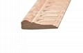 cnc carved wood baseboard moulding for interior decoration 2