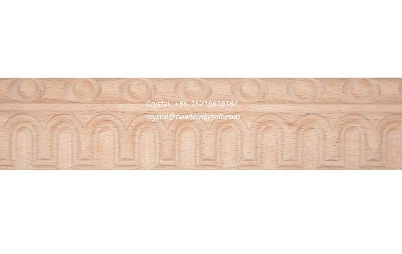 cnc carved wood baseboard moulding for interior decoration 4