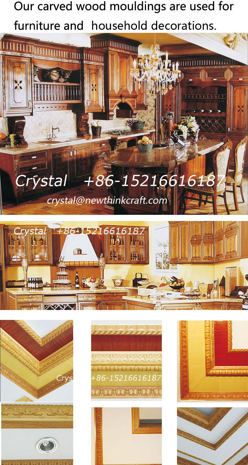 solid wood carved crown mouldings for interior decoration 4